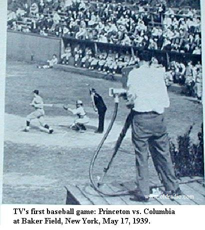 First Televised Baseball Game